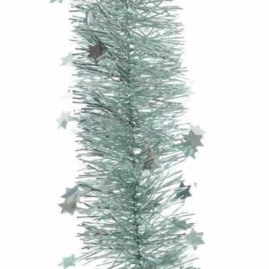 Mintgroene sterren kerstslinger 10 x 270 cm kerstboom versiering