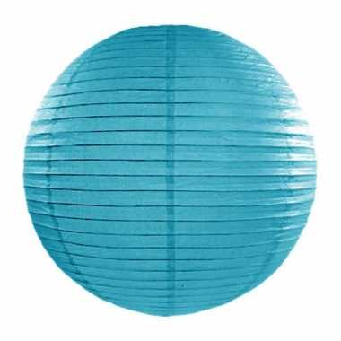 Mist blauwe bol lampion 35 cm