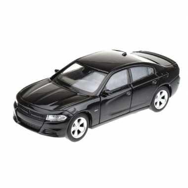 Modelauto dodge charger 2016 zwart 1:34