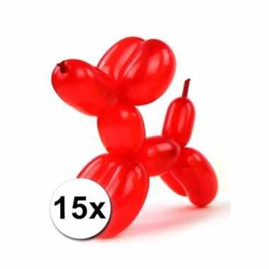 Modelleerballonnetjes 15 stuks
