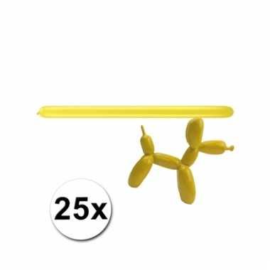 Modelleerballonnetjes geel 25 stuks