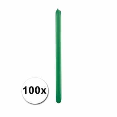 Modelleerballonnetjes groen 100 stuks