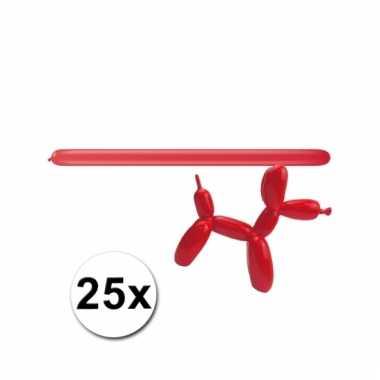 Modelleerballonnetjes rood 25 stuks