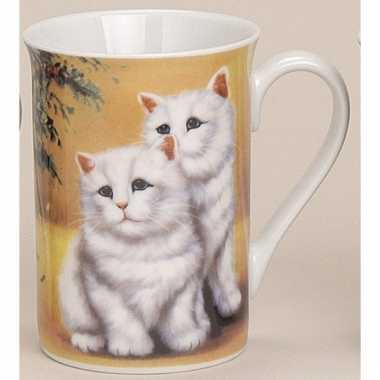 Mok met katten geel 10 cm