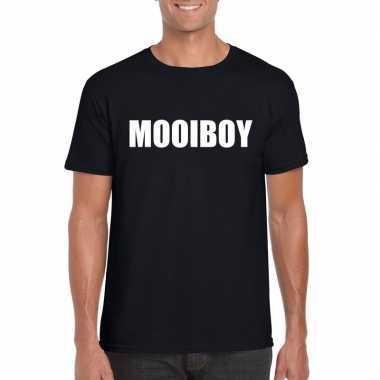 Mooiboy tekst t-shirt zwart heren
