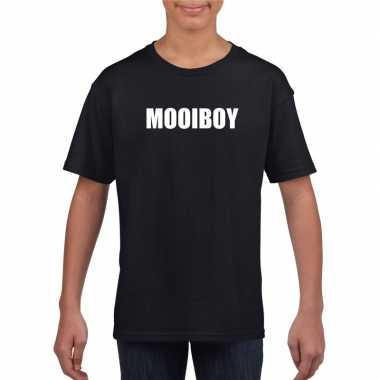 Mooiboy tekst t-shirt zwart kinderen