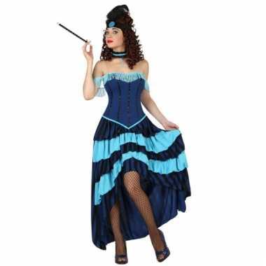Moulin rouge danseres jurk blauw