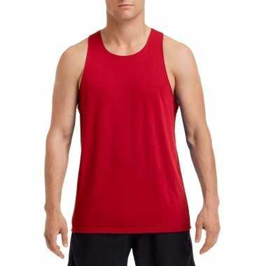 Mouwloos heren tshirt rood