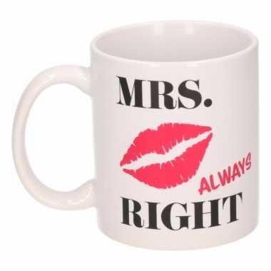 Mrs alway right mok / beker 300 ml