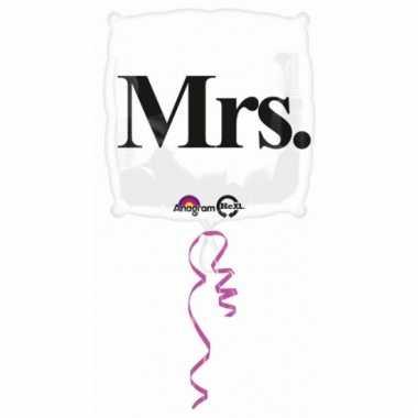 Mrs ballon met helium 43 cm