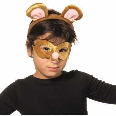 Muis masker en diadeem voor kids