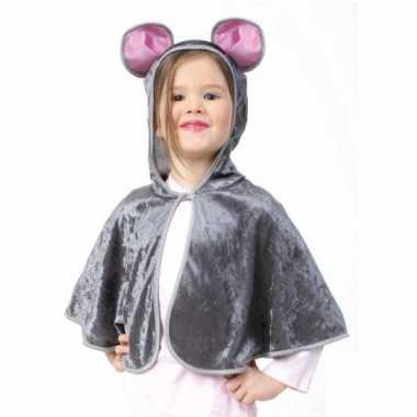 Muis verkleed poncho voor peuters