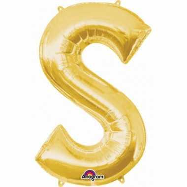 Naam ballonnen letter s goud