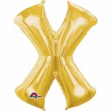 Naam ballonnen letter x goud