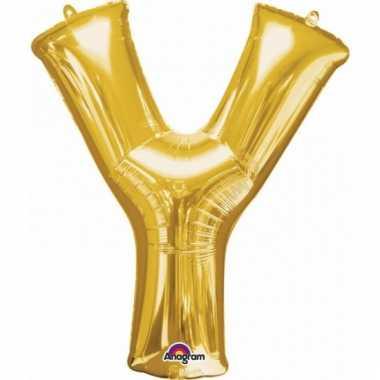 Naam ballonnen letter y goud
