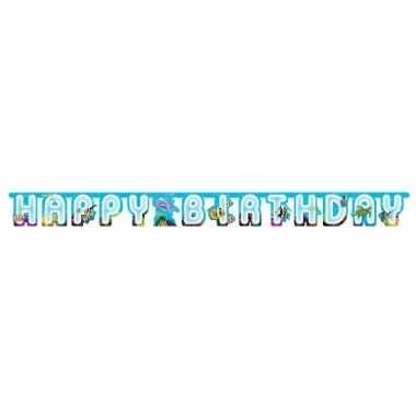 Oceaan thema wenslijn happy birthday