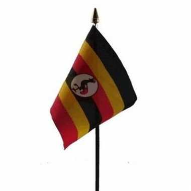 Oegandese landenvlag op stokje