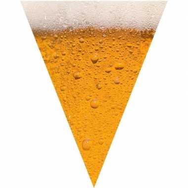 Oktoberfest - bier print vlaggenlijn / slinger 6 meter
