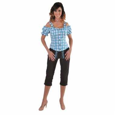 Oktoberfest blouse off shoulder blauw