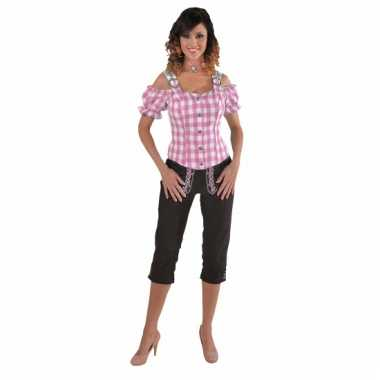 Oktoberfest blouse off shoulder roze