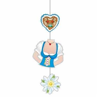 Oktoberfest edelweiss decoratie 70 cm