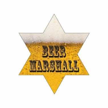 Oktoberfest - sherrif ster bier marshall met led lampjes 8 cm