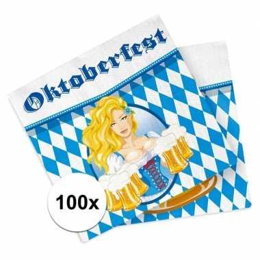Oktoberfest thema servetjes 100 stuks