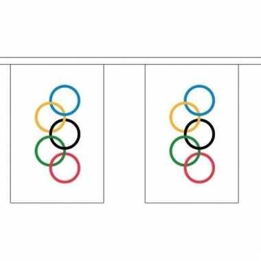 Olympische spelen decoratie vlaggenlijn 3 meter