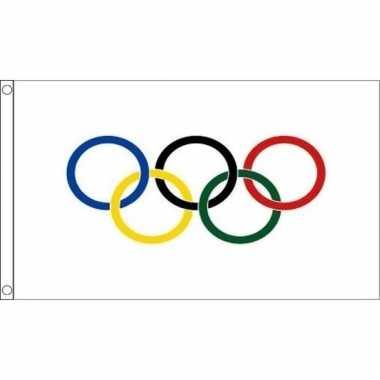 Olympische spelen versiering vlag