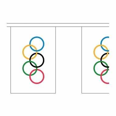 Olympische spelen versiering vlaggenlijn