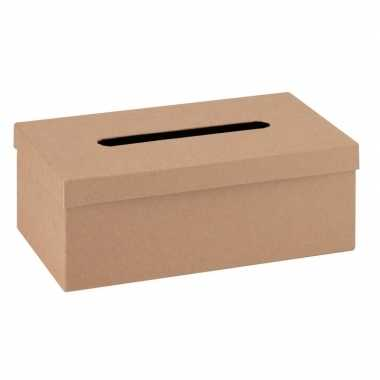Onbewerkte kartonnen tissuebox 25 cm