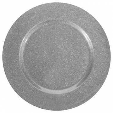 Onderzetbord zilveren glitters