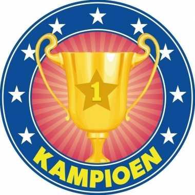 Onderzetters kampioen trofee