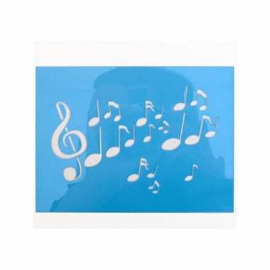 Oog schmink sjablonen muzikale noten