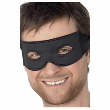 Oogmaskers boef zwart