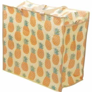 Opbergtas/dekentas ananas print 55 x 48 cm
