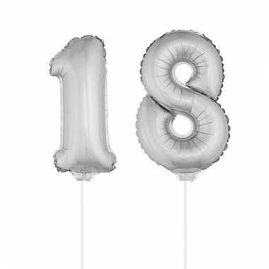 Opblaas cijfer 18 folie ballon 41 cm