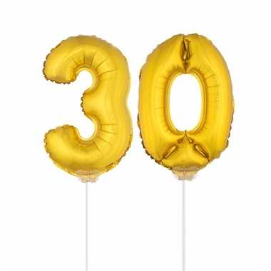 Opblaas cijfer 30 folie ballon 41 cm