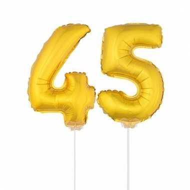 Opblaas cijfer 45 folie ballon 41 cm
