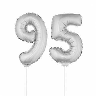 Opblaas cijfer 95 folie ballon 41 cm
