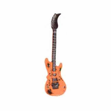 Opblaas gitaar oranje 55 cm