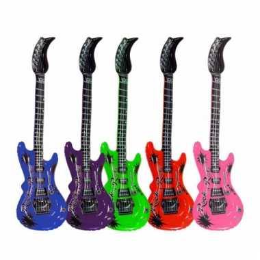 Opblaas gitaar paars 55 cm