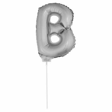 Opblaas letter b folie ballon