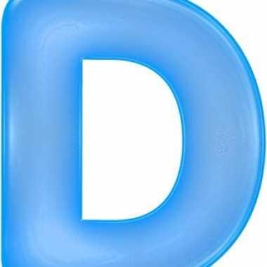 Opblaas letter d blauw