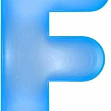 Opblaas letter f blauw