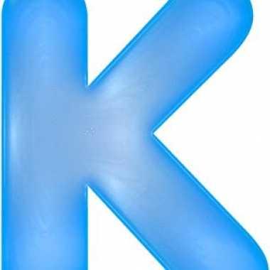 Opblaas letter k blauw