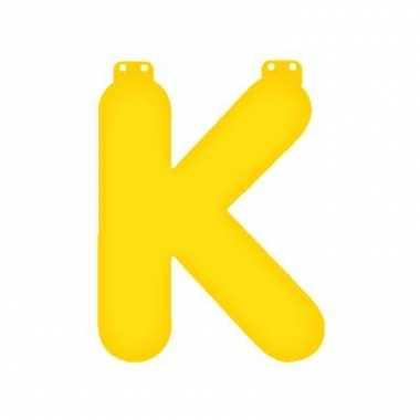 Opblaas letter k geel