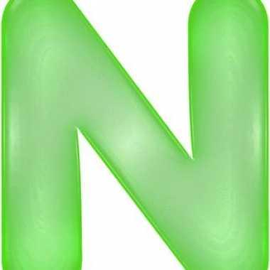 Opblaas letter n groen