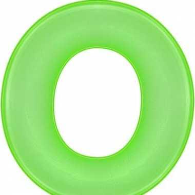 Opblaas letter o groen
