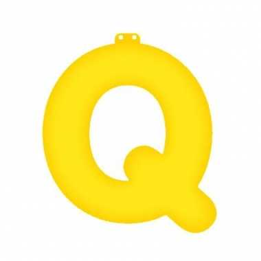 Opblaas letter q geel